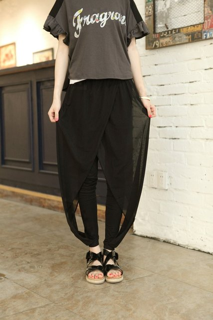 2013 coveredbuttons gauze pants improved version legging pants