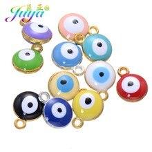 Juya 30 sztuk/partia hurtownie turecki Evil Eye Charms akcesoria dla kobiet mężczyzn Handmade bransoletki naszyjnik kolczyki dokonywanie dostaw