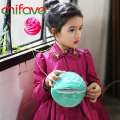 chifave Spring Autumn Girls Princess Coat Clothes Turn-down Collar Double Breasted Jackets Long Sleeve Bow Girls Outerwear Coats