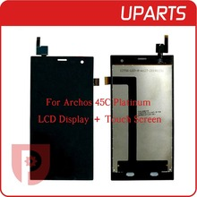 1pcs/lot A+++ High quality For Archos 45C Platinum LCD Display + Touch Screen Assembly LCD Digitizer Glass Panel Replacement