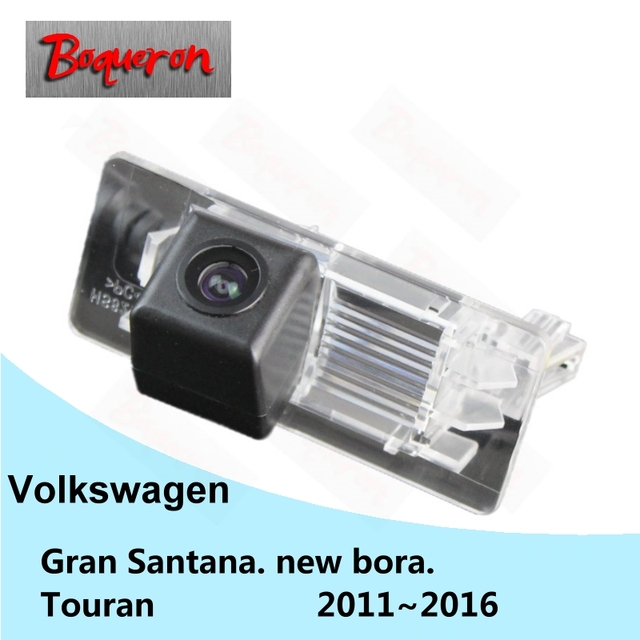 Para volkswagen vw santana novo bora touran gran 2011 ~ 2016 hd ccd à prova d' água câmera do carro de backup invertendo câmera de visão traseira