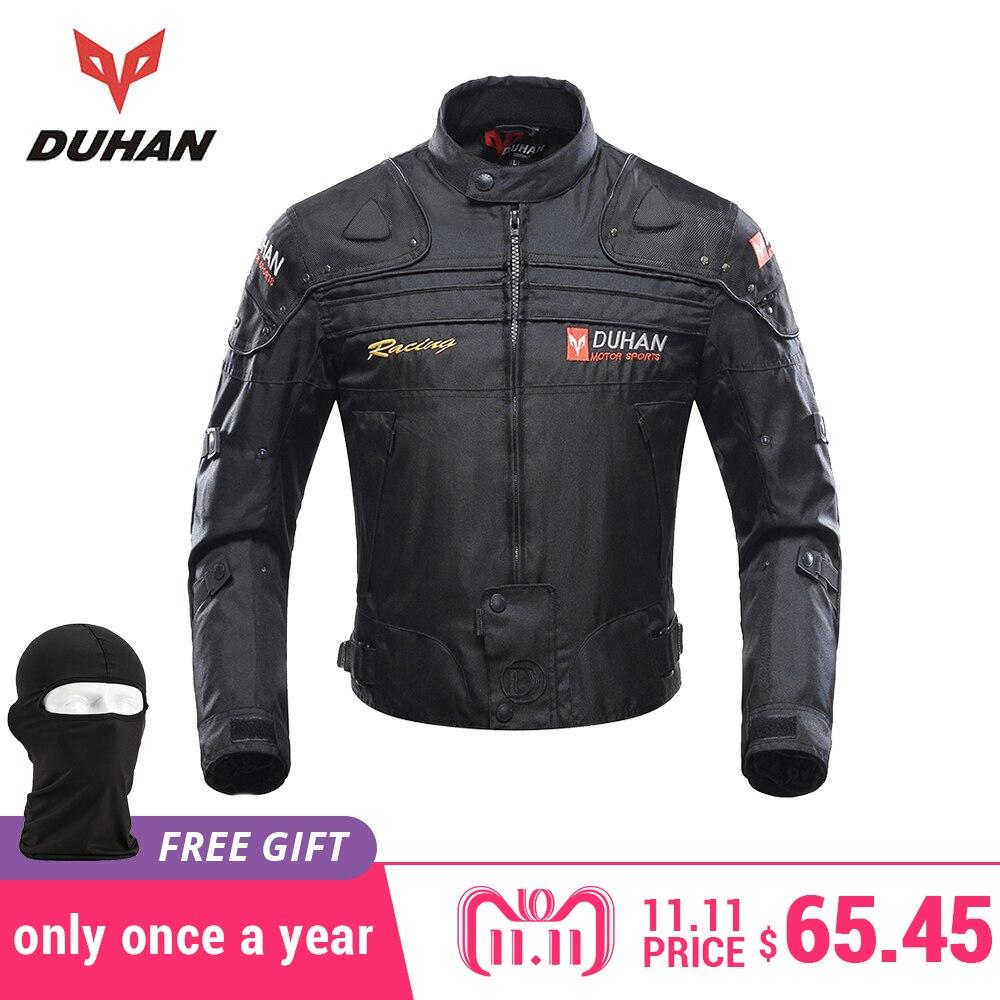 DUHAN Motorcycle Jackets Men Motocross Off Road Racing Body Armor Protective Moto Jacket Motorbike Windproof Jaqueta Clothing