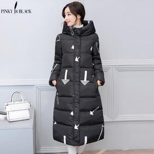 Image 5 - PinkyIsBlack 2019 new thicken wadded jacket outerwear winter jacket women coat long parkas cotton padded hooded jacket and coat