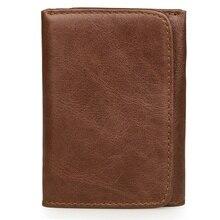 Genuine Leather Short Wallet Card Holder Fashion Wallet Money Holder Purse With RFID Function R-8106C цены