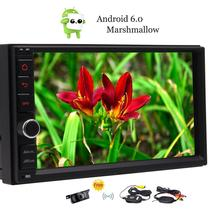 2 Din Android 6.0 Car Stereo 7″ Touch Screen Car GPS Navigation Autoradio Head Unit FM Radio Support USB SD OBD2 DAB Rear Camera
