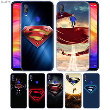 Superman Cartoon Case for Redmi 7 6 6A S2 GO Note 7 6 5 4 4X Xiaomi MI 9 8 A2 A1 Mix 3 5G Play Poco F1 Lite Pro Phone Accessory(China)
