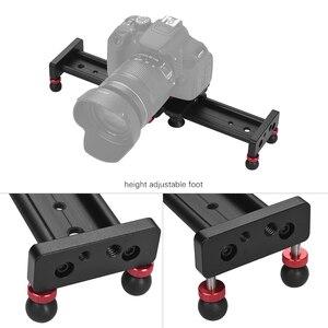 Image 2 - Стабилизатор для камеры Andoer, Рельс из алюминиевого сплава для DSLR камеры, аксессуары для фотографии, 30/40/50 см