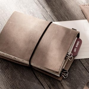 Image 4 - fashion Genuine leather Vintage Travelers mini Notebook Cowhide diary Simple Classic girl boy friend travel binder small book
