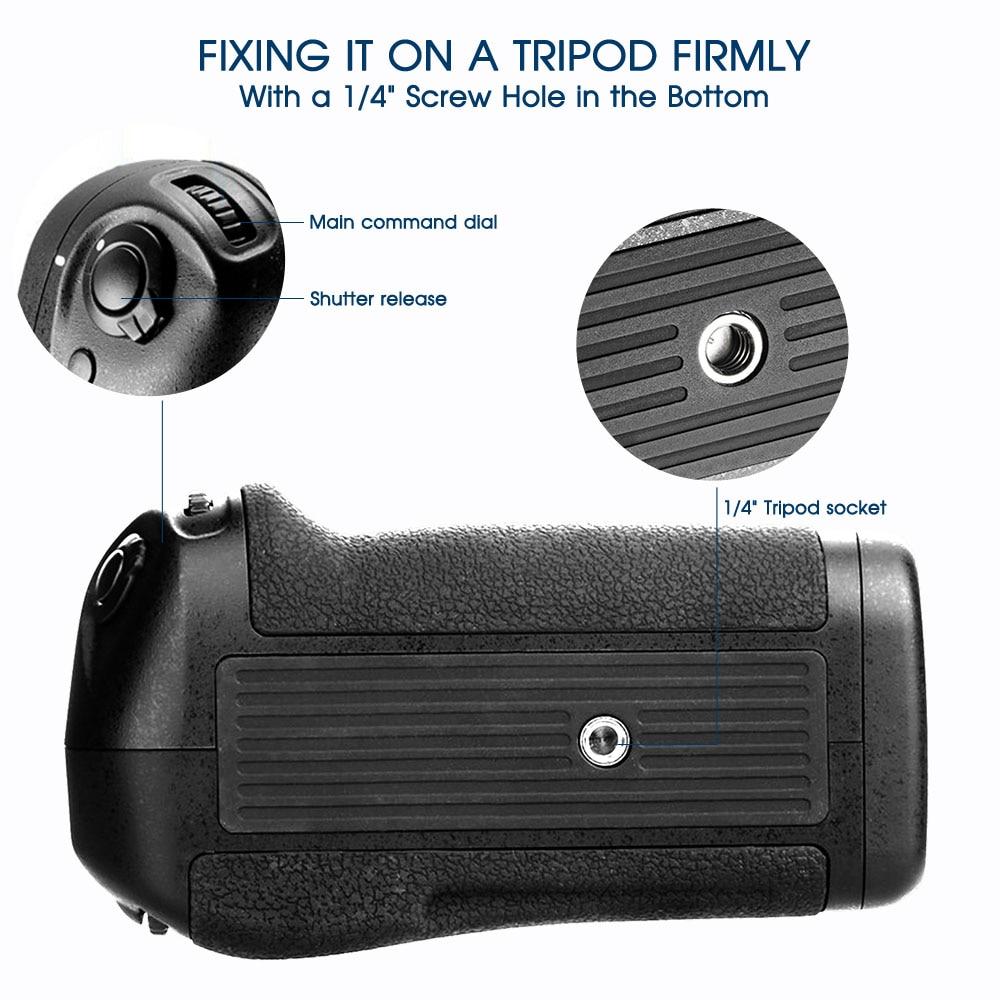 Travor Professionellt Batterihandtag för Nikon D500 DSLR-kamera som - Kamera och foto - Foto 6