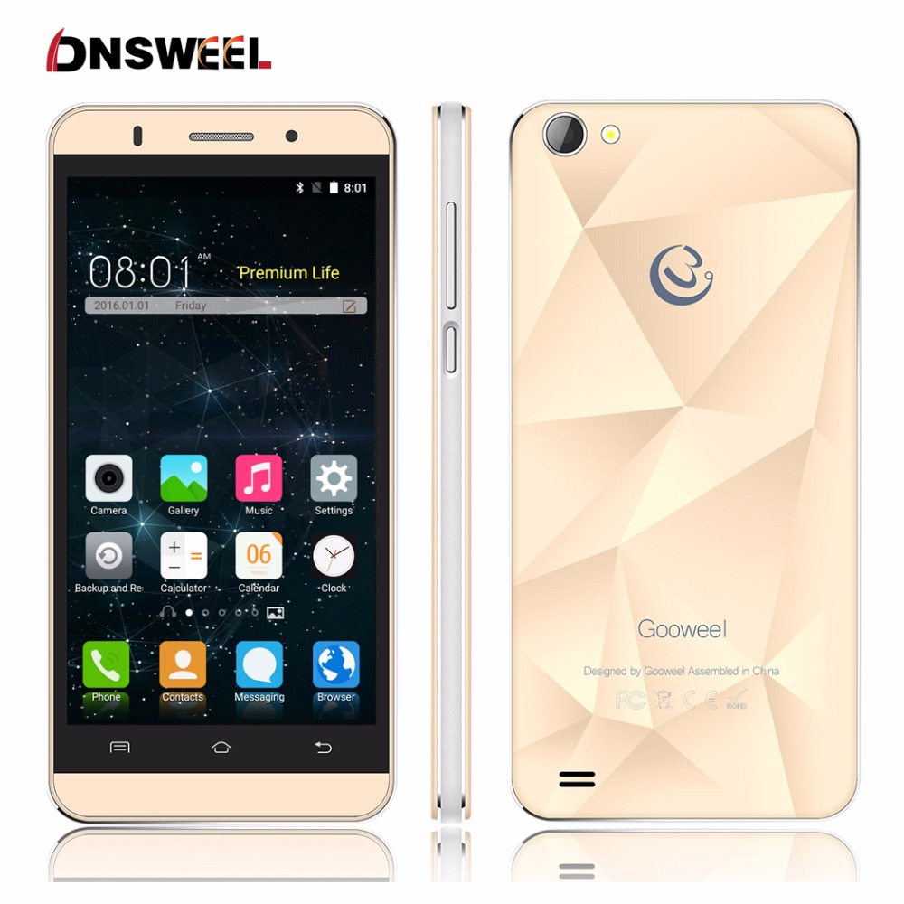 Original Gooweel M5 Pro smartphone MTK6580 quad core 5 inch IPS screen mobile phone 5MP 8MP