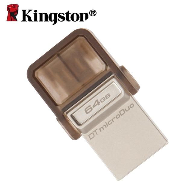 2-en-1 Kingtston unidad flash usb 2.0 pen drive usb memoria 64 gb chiavetta usb para portátiles tablet pc