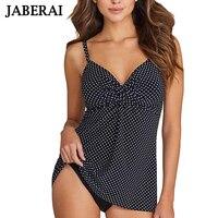 JABERAI Nero Solido Bikini Push Up Donne Costumi Da Bagno Tankini Plus Size Costumi da bagno Retrò Abito Nuoto Beachwear Costume Da Bagno