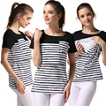 Emotion Moms Short Sleeve Maternity clothes nursing top Breastfeeding Tops for Pregnant Women Maternity T-shirt nursing clothes