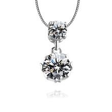 Fashion Pendant Necklace Trend Delicate Zircon Super Flash Clavicle Chain Temperament Lady Wild