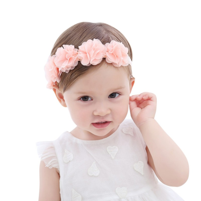 1 Piece Flower Floral Baby Headbands Headwear Girls Hair Bow Hairband Head Band Infant Newborn Bows Toddlers Lace