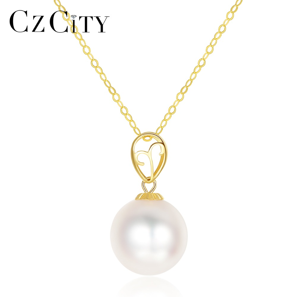 CZCITY 100% 18K Yellow Gold Small Bud Natural Akoya Pearls Pendant Necklace for Women Exquisite Wedding Yellow Gold Jewelry NewCZCITY 100% 18K Yellow Gold Small Bud Natural Akoya Pearls Pendant Necklace for Women Exquisite Wedding Yellow Gold Jewelry New