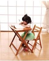66*45*61 см bamboo складные детей портативный регистрации обучения аналитическое исследование письменный стол детский стол и стул