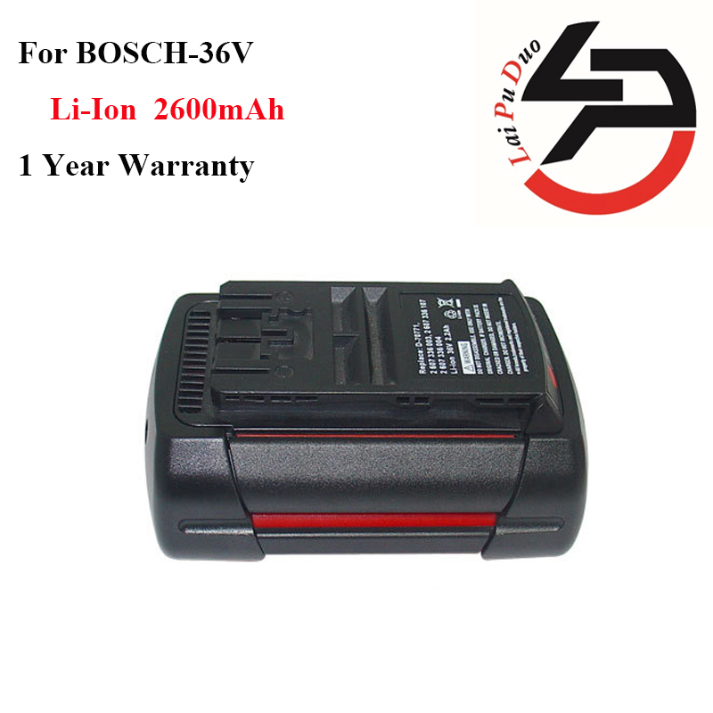 Brand new 36v 2.6Ah Li-Ion Replacement power tool battery for Bosch: 2607336003,BAT810, 11536C,BAT837,2607336107,D-70771,1651K, 1 pc li ion battery replacement charger for bosch 10 8v 12v bc430 bat411 bat412 bat413 cordless tool battery vhk20 t30