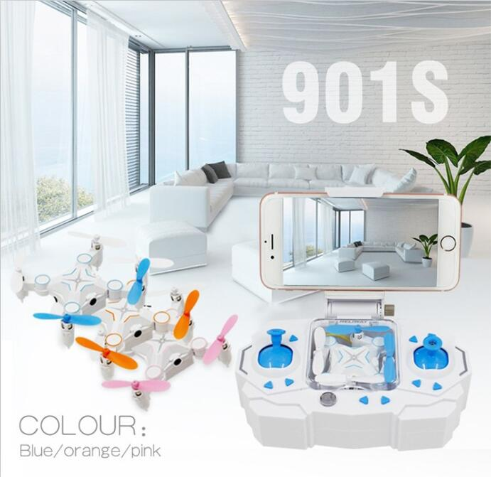 901 S WIFI FPV RC drone 2.4G 6-AXIS RC Mini Plegable bolsillo Portátil con wfi 0