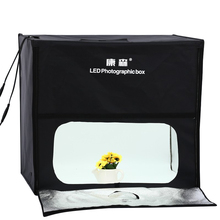 60cm*60cm LED Professional Portable Softbox Box Photo Studio Video Lighting Tent with Light Photography Props