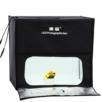 60cm*60cm LED Professional Portable Softbox Box LED Photo Studio Video Lighting Tent with LED Light Photography Props
