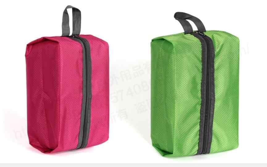 Bolsas de zapatos de viaje de nailon impermeable con cremallera para hombres y mujeres buen diseño para el hogar y el uso de viajes