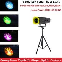 2018 New 330W 15R LED Follow Spot Lights MSD 15R 330W Following Light Color Gobo IRIS Wedding Decoration Performance Stage Light