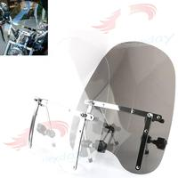 Large 19x17 Motorcycle Windshield For Honda Magna Shadow Spirit Sabre 600 750 1100