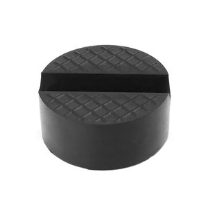 Image 3 - أسود V الأخدود سيارة جاك وسادة مطاطية المضادة للانزلاق السكك الحديدية حامي دعم كتلة الثقيلة لرفع السيارة