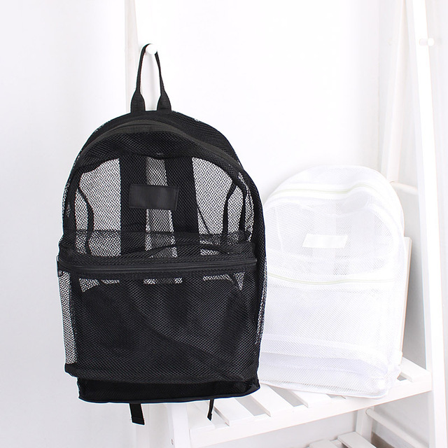 ADIYATE Mesh Transparent Backpack Casual Travel Bag Student Teenager School Book Mochila Feminina Fashion