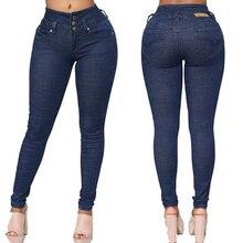 solid women fashion Jeans Women High Waist skinny pencil Denim Pants Elastic Stretch sexy slim high street wear femme