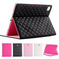 For apple iPad Mini 4 Luxury Crown Grid PU Leather Cover For ipad mini 4 Wake Up Sleep Smart Stand Full Body Bag Tablet Case
