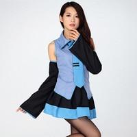 Vocaloid Hatsune Miku Cosplay Costume Zestaw Japoński Mid Sukienka Hatsune Miku