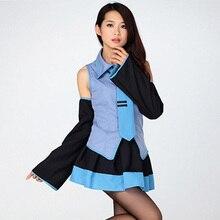 Vocaloid Miku Hatsune Cosplay Costume Kit Japanese Mid Dress Hatsune Miku