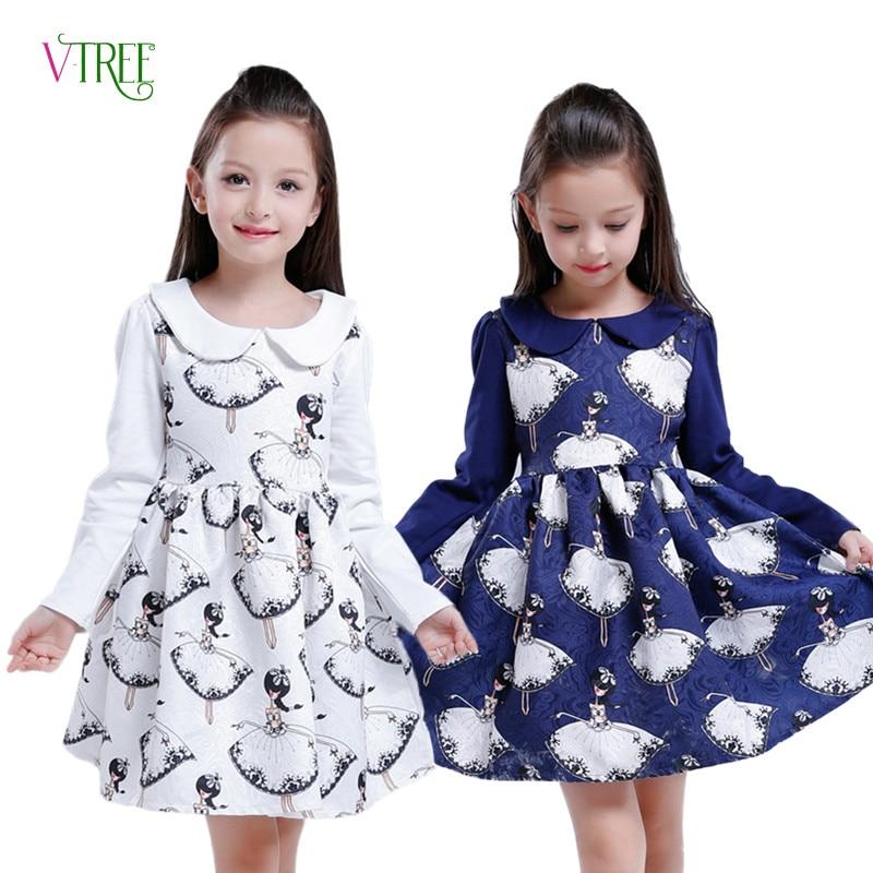 New Girls Dress Teenagers Baby Girls Princess Dress Spring Autumn Kids Children Long Sleeve Wedding Party Bow Dress 4-12 Year стоимость