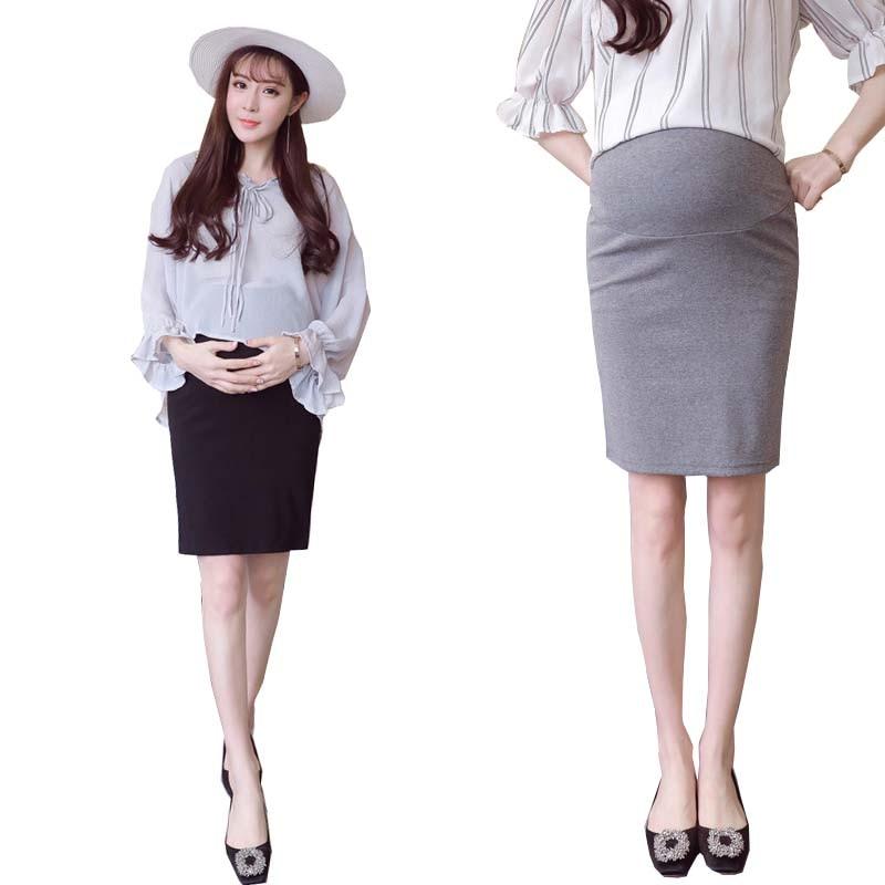 Elegant Maternity Skirt Autumn Summer Pregnant Women High ...