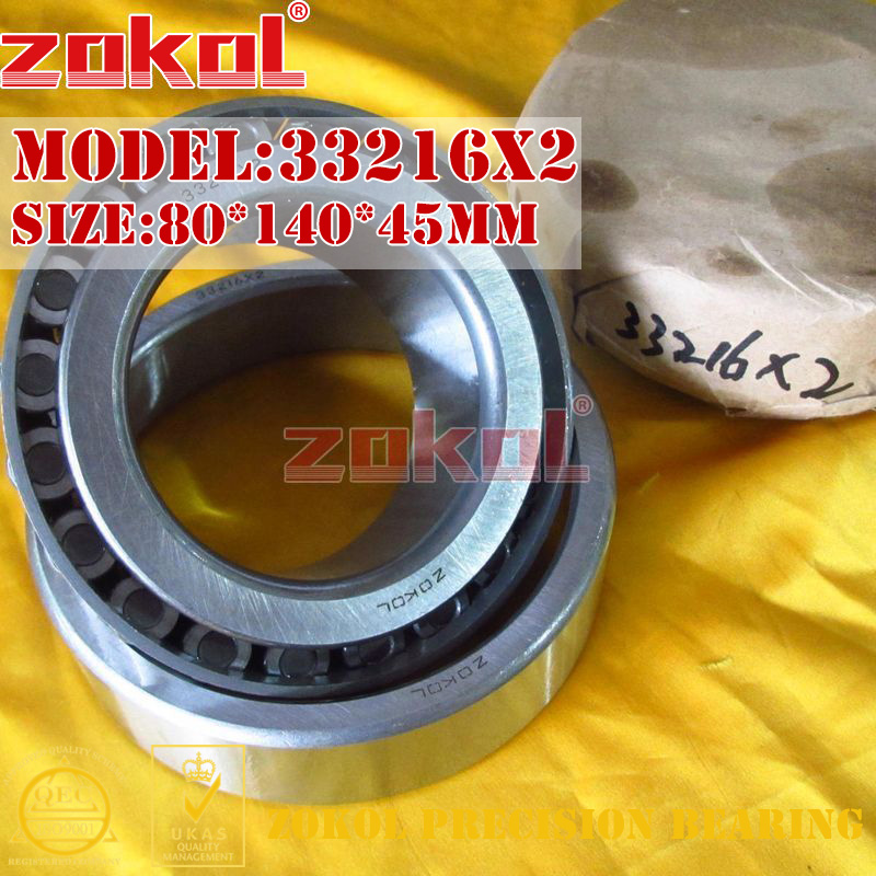 ZOKOL bearing 33216X2 7816E Tapered Roller Bearing 80*140*45mm цена