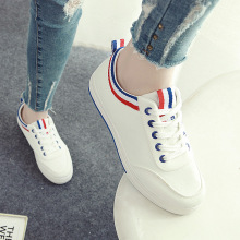 Fall flat-bottom Korean version of small white shoes student canvas shoes femaleb1