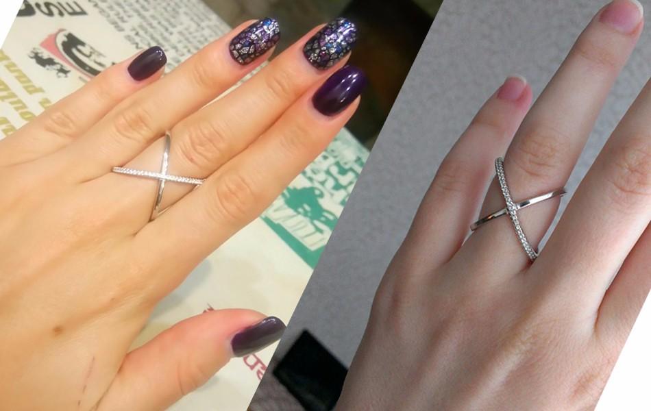 Cross Zircon Rose Gold Infinity Fashion Ring