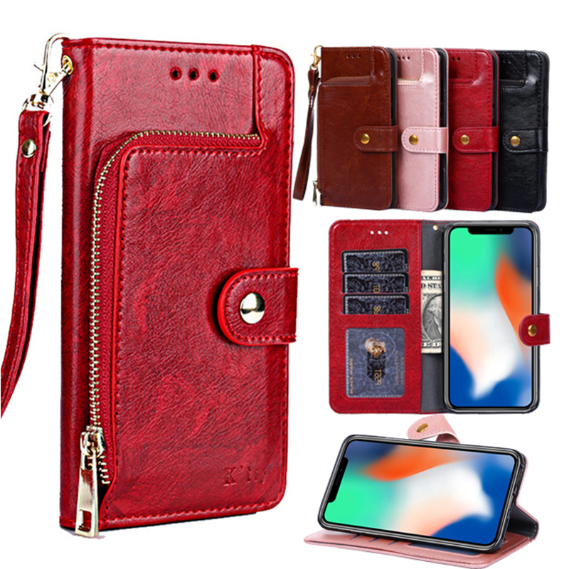 Luxury <font><b>Leather</b></font> <font><b>Flip</b></font> <font><b>Case</b></font> For <font><b>Samsung</b></font> Galaxy J3 Prime J2 pro J6 A9 J7 J4 A6S A8S <font><b>M10</b></font> Card Holder Magneti <font><b>Wallet</b></font> <font><b>Stand</b></font> Book Cover image