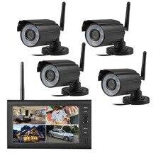 Promo offer 2.4G 4CH QUAD DVR Security CCTV Camera System Digital Wireless Kit Baby Monitor 7″ TFT LCD Monitor+ 4 Cameras