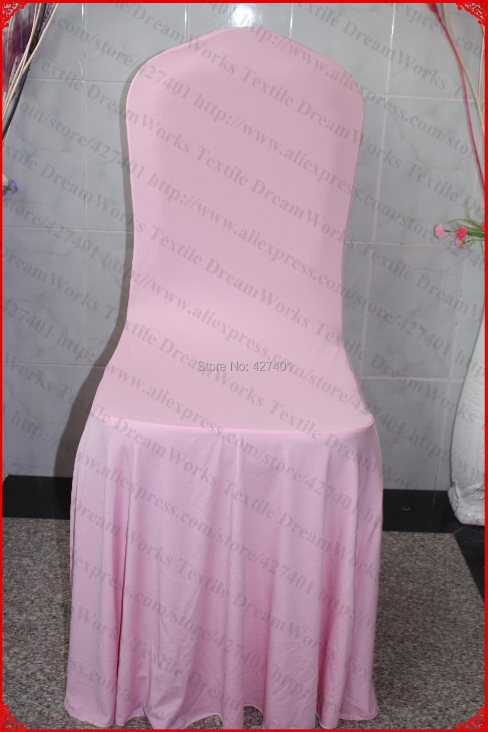 Light Pink Spandex Chair Covers Dining Seat Pillows Elegant Pleated Swag Cover Lycra Backdrop For Wedding Party Banquet Home Decorations In From Garden
