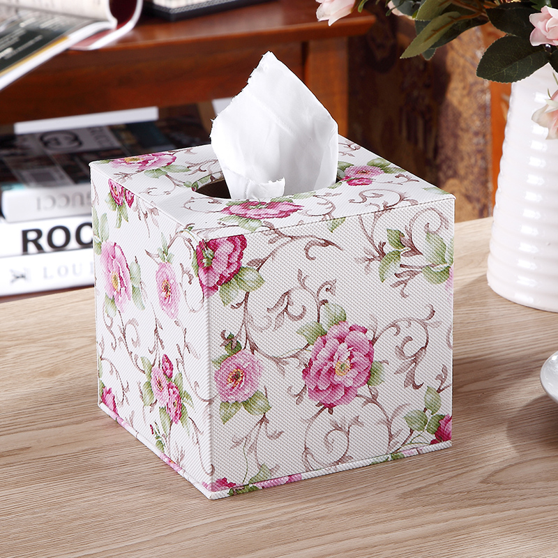 Aikeen Round Tissue Cases Box Home Office Desk Collection Set, Car Office Shop Table Container Box