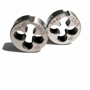 """Image 5 - Free shipping of 2PCS of alloy steel made UNC/UNS/UNEF manual dies 1/4"""" 20 24 27 28 32 36 40  for hand threading metal workpiece"""