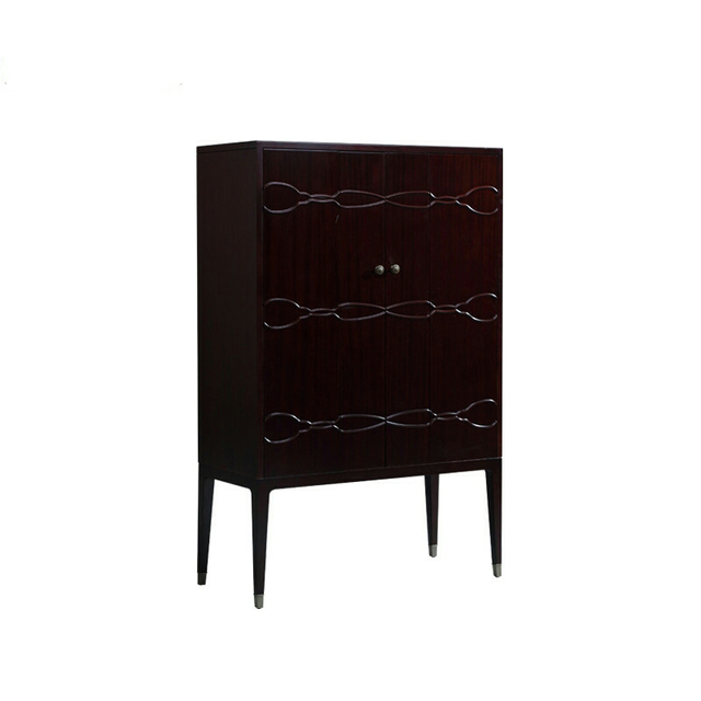 Beau American Style Minimalist Cabinet, Locker, Vertical Bar, Table Rack