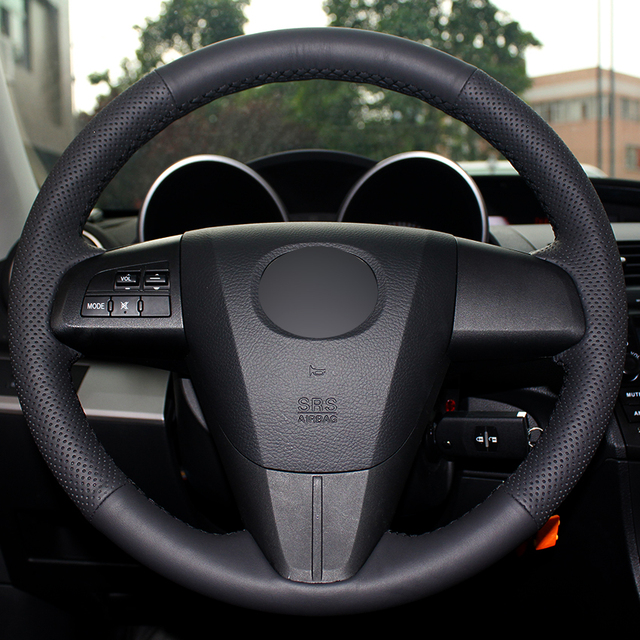For Sale 2008 Mazdaspeed 3 Wheels: Aliexpress.com : Buy Black Natural Leather Car Steering Wheel Cover For Mazda 3 Axela 2008 2013