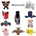 2016 Novos Brinquedos de Pelúcia Minecraft Enderman Jaguatirica Porco Ovelha Bat Mooshroom Lula Aranha Lobo Animal macio stuffed dolls toy kids presente