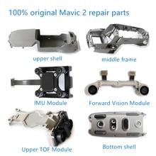 100% original DJI Mavic 2 교체 부품 모터 암 상단 덮개 중간 프레임 하단 하우징 IMU TOF Mavic 2 용 수리 부품