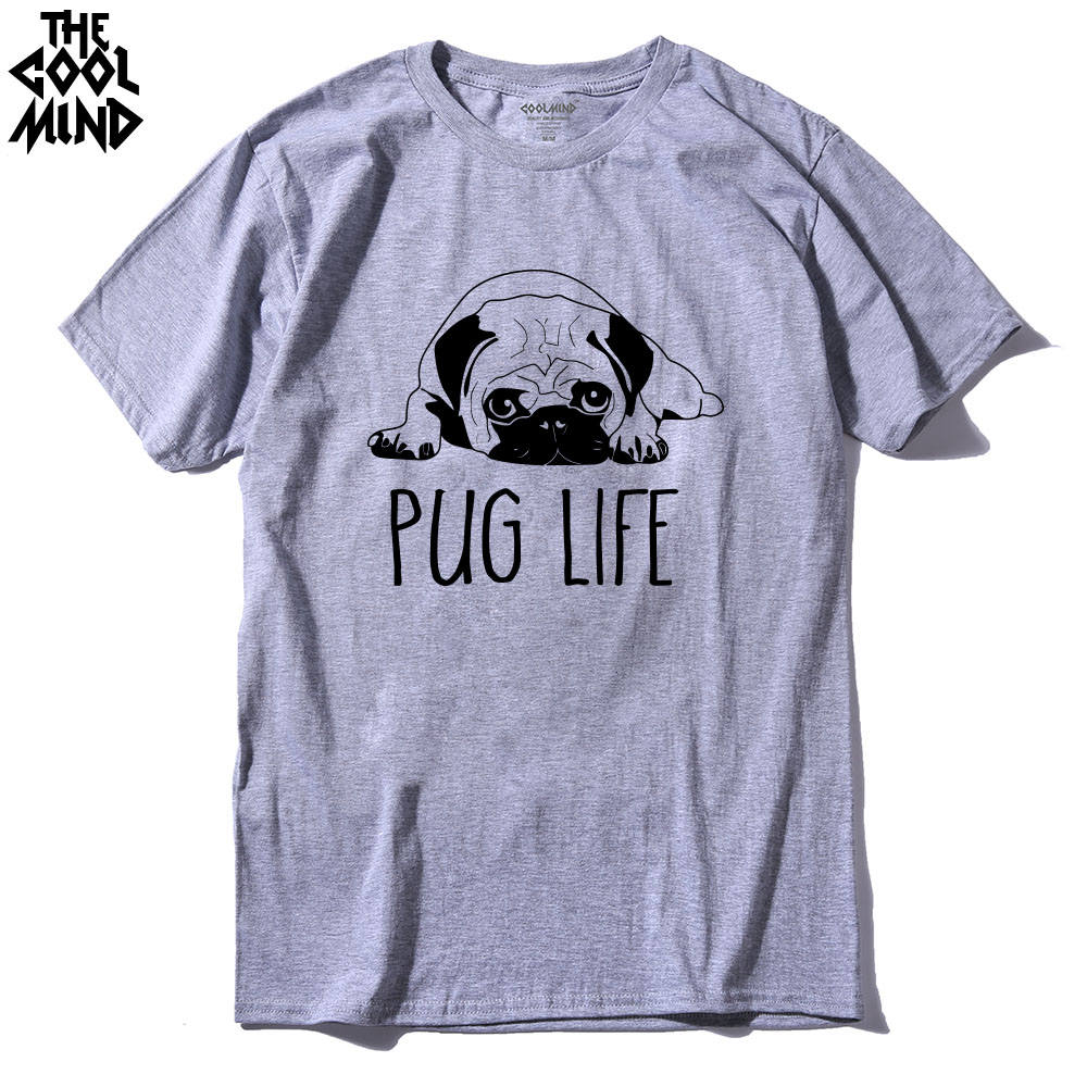 cotton casual pug life mens t shirts top quality fashion short sleeve men tshirt men's tee shirts tops men T-shirt 2017 T01