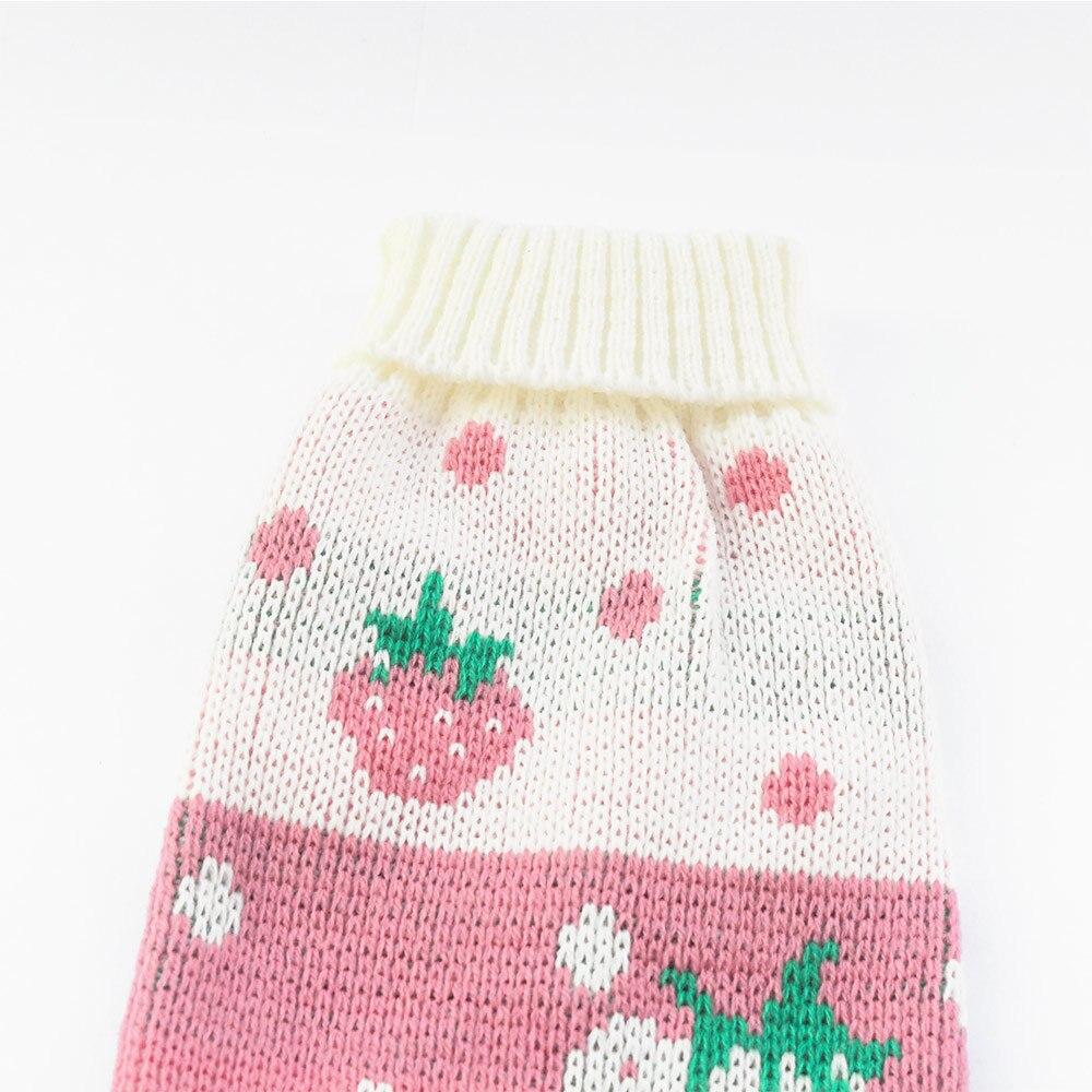 Patrón de la fresa pequeña perro suéter Otoño Invierno suéteres para ...